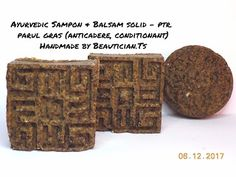 BEAUTICIAN. STELA: AYURVEDIC SAMPON SOLID & BALSAM - ptr. PAR GRAS (a... Blog, Handmade, Hand Made, Blogging, Handarbeit