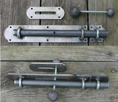 Steel barn thru-door bolt latch