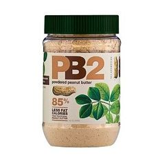 Powdered Peanut Butter (85% less fat, calories) with the same great taste! Great substitute for using PB in recipes without sacrificing the flavor :) Same technology as cocoa powder http://bit.ly/HZNy7A