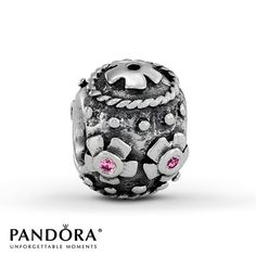 "Pandora Decorative Egg"" Pink CZ Charm"
