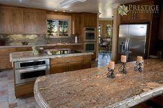 Creama Bordeaux Granite kitchen.