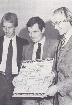 The Big Three; Greg Lemond, Bernard Hinault And Laurent Fignon.