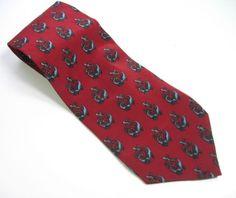 J-GARCIA-Red-Blue-Design-NECK-TIE-Mens-100-SILK-Necktie-Made-USA-Jerry