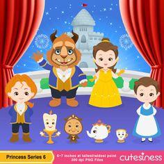 Princess Digital Clipart Princess Clipart Beauty by Cutesiness, $6.00