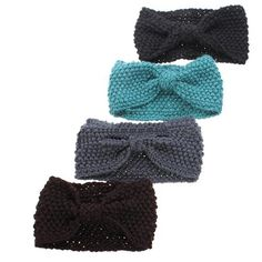 Hot Crochet Flower Bowknot Knitted Head Headband Headwear Hairband Ear Warmer Hair Muffs Band 5BT5 7G72 #Affiliate