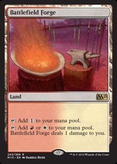 Battlefield-Forge-x1-Magic-the-Gathering-1x-Magic-2015-mtg-rare-card-land-mana