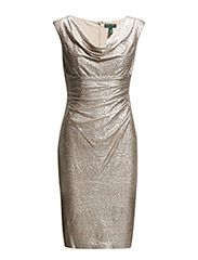 lauren ralph lauren VALLI - CAP SLEEVE DRESS - PALE GOLD