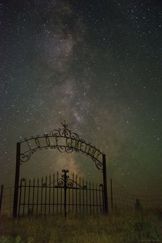 """""""We Are Stardust"""" by photographer, Bob Cronk. Photo was taken at the Independent Order of Odd Fellows Cemetery in Grass Valley, Oregon. Beautiful Places, Beautiful Pictures, Oregon Road Trip, Odd Fellows, Grass Valley, Night Skies, Cemetery, Cool Photos, Amazing Photos"""