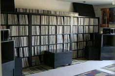 A record collection...