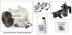 awesome AC Compressor Kit + Drier Expansion Device Oil & More For Dodge Caravan 3.0L - For Sale