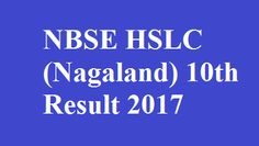 NBSE 10th Result 2017