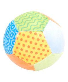 Love this Blue Patchwork Ball Rattle on #zulily! #zulilyfinds ALSO PINK