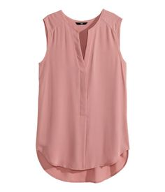 h&m, sleeveless blouse (dusty rose). size 2. runs large and is long; could probably fit a medium.