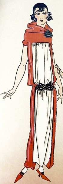 1920sstyle draped dress sewing pattern Chosen to by Contrapunt, €22.00