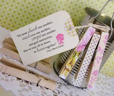 Magnets and quote as gift... Cute idea for Secret Sisters at church!