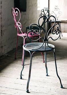 Silla Festival, varios colores/ iron chairs ideas