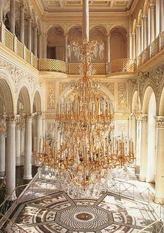 DOES THIS ROOM MAKE MY CHANDELIER LOOK BIG... Pavilion Hall, Hermitage museum St.Petersburg, Russia