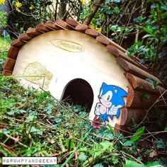 On instagram by grumpyandgeeky #retrogaming #microhobbit (o) http://ift.tt/2fYRKxo a lot of hedgehogs in garden lately so today I got this cute hedgehog house!! Of course I added the geeky touch to it but I love it. Let's hope some hedgehogs make it their home soon!! #geek #geeks #geeky #geeklife #grumpyandgeeky #hedgehogs #sonicthehedgehog #sega #dreamcast #mastersystem #gamer #gaming  #megadrive #disney #marvel #starwars #jedi #gardening #hedgehoghouse  #nerdlife #nerd #newhome…