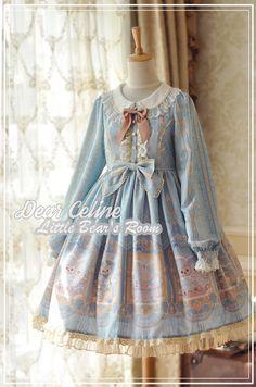 DearCeline -Little Bear's Room- Sweet Lolita OP Dress