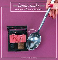 broken blush beauty hack