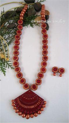 Terracotta Jewellery Making, Terracotta Jewellery Designs, Terracota Jewellery, Tassel Necklace, Jewelery, Polymer Clay, Jewelry Design, Jewelry Making, Creative