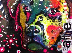 "Annet Raben ""Bailey"" in my Art Journal. Mixed Media"