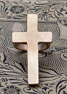 Shannon Koszyk Bronze Cross Ring R2782