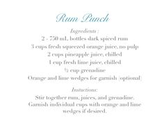 RUM PUNCH - Thoughtfully Styled