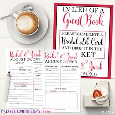 Custom Wedding Libs Guestbook Alternative [Printed or Printable] ... Make the switch to a guestbook that friends & fam will actually enjoy filling out! You two are so gonna love reading them after the big day! It's the perfect activity for receptions, rehearsal dinners, & bridal showers. So snag yours today.