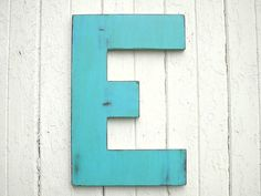 Rustic Wedding Guestbook Letter E 24 Large by LettersofWood, $59.00