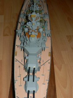 huge Bismarck Model with detailed Parts ca. built and colored by the… Scale Model Ships, Scale Models, Bismarck Model, Building, Color, Buildings, Colour, Scale Model, Construction