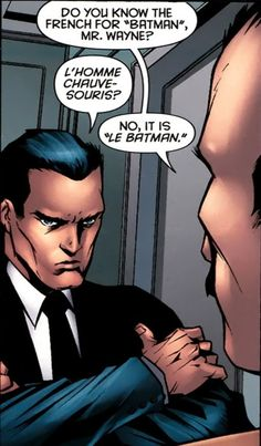 In which Bruce Wayne gets owned ...Le Batman, that is all