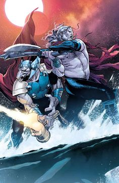 Thor and Beta Ray Bill by Olivier Coipel