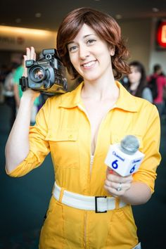 April O'Neil from Teenage Mutant Ninja Turtles - 27 Genius Comic-Con Costumes to Bookmark for Halloween via Brit + Co.