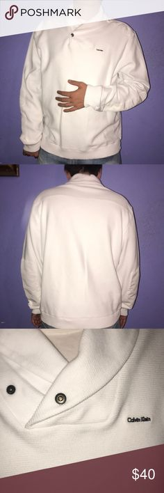 Calvin Klein men's sweater White sweater  Size: XL  In good conditions Calvin Klein Collection Sweaters