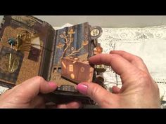 A coffee- sleeve mini Junk Journal- included a story made from gifts, junk and imagination :) - YouTube