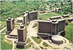 Western University in Macomb, Illinois  North Quad.  Sadly Wetzel Hall is no more...