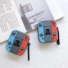 For Apple AirPods 2 Earphone Case Retro Game Machine Headphone Cute Cases, Cute Phone Cases, Iphone Phone Cases, Nintendo Switch Accessories, Iphone Accessories, Apple Earphones, Apple Airpods 2, Apple Pin, Accessoires Iphone