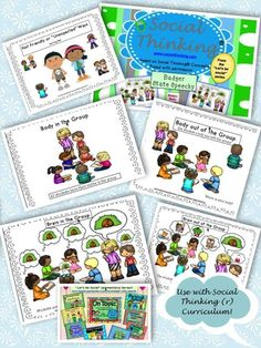 Activities to support Michelle Garcia Winner's Social Thinking curriculum.You can find Social thinking and more on our website. Social Skills Autism, Teaching Social Skills, Social Behavior, Social Emotional Learning, Speech Language Therapy, Speech Therapy Activities, Kindergarten Activities, Speech And Language, Play Therapy