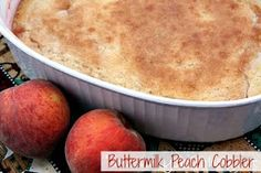 Mommy's Kitchen - Old Fashioned & Country Style Cooking: Buttermilk Peach Cobbler & {Our Visit to the Local Peach Orchard}
