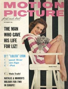 Natalie Wood and her poodle