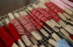 Idee per avvolgere e tenere in ordine filati nastri e stoffe   Un'Idea Nelle Mani ... ricicla, riusa, riadatta, ricrea, inventa