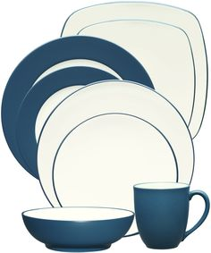 Colorwave Blue by Noritake. #dinnerware #wedding #registry #tablescape #mixandmatch #tabletop #blue
