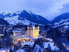 Luxury knows no bounds at this palace in Gstaad, Switzerland. Stylish accommodations, a. - (Courtesy of Gstaad Palace) Gstaad Switzerland, Switzerland Tour, Switzerland Destinations, Travel Destinations, Holiday Destinations, Signature Travel, Alpine Village, Ski Chalet, Palace Hotel