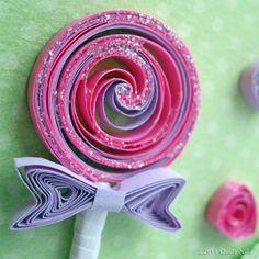 paper quilled lollipop