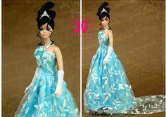 Vestido Super Luxo P/ Boneca Barbie + Sapato * Gala Glamour - R$ 24,90 no MercadoLivre