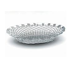 #Stainless #Steel Oval Crome #Basket 25cm