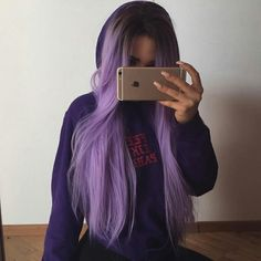 71 most popular ideas for blonde ombre hair color - Hairstyles Trends Hair Color Purple, Hair Dye Colors, Light Purple Hair, Black To Purple Ombre, Green Hair Streaks, Pastel Purple Hair, Light Ombre, Hot Pink Hair, Lilac Nails
