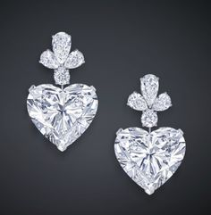 Graff heart diamond earring drops..for the girls to match their necklace