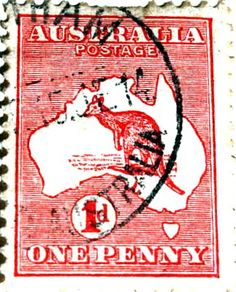 australian one penny stamp